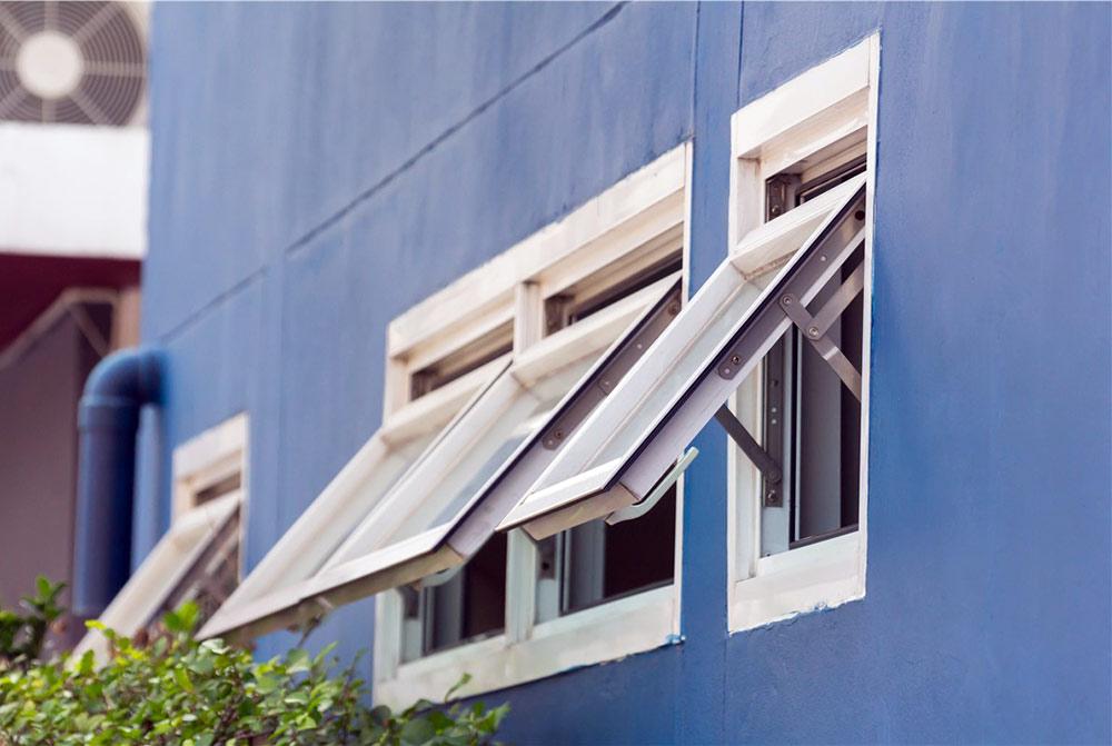 Awning-style windows